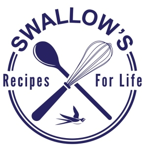 The Swallow Recipes for Life logo showing a wooden mixing spoon and a whisk
