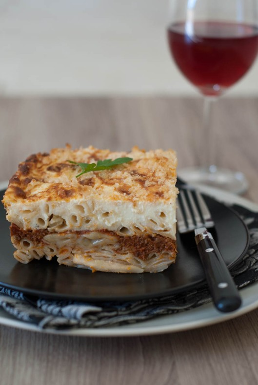 Pastitsio side view