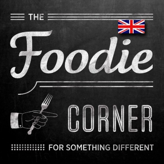 The Foodie Corner Logo with British flag